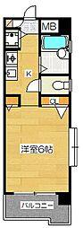 ダイナコートグランデュール博多[9階]の間取り