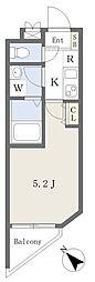 京急空港線 糀谷駅 徒歩2分の賃貸マンション 4階1Kの間取り