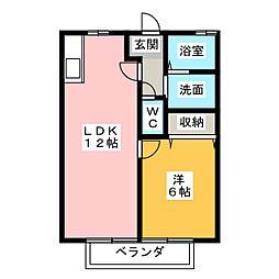 キジーアベニューII[1階]の間取り