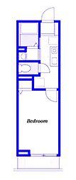 京急本線 生麦駅 徒歩4分の賃貸アパート 3階1Kの間取り