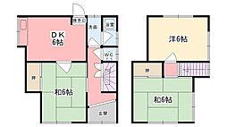 [一戸建] 兵庫県姫路市西八代町 の賃貸【兵庫県 / 姫路市】の間取り