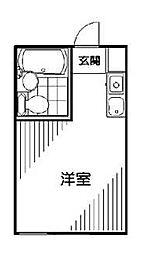 東京都世田谷区桜丘1丁目の賃貸アパートの間取り