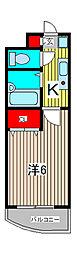 ロンドパークビル[3階]の間取り