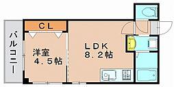 ゆうプラザ博多駅東[3階]の間取り