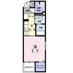 モデルノ関町[2階]の間取り