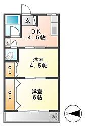 池下グランドマンション[3階]の間取り
