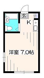 カーサ宇田川B棟[1階]の間取り