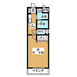 コモンガル小垣江[2階]の間取り
