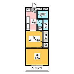 Mellowマンション[2階]の間取り