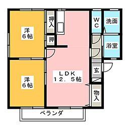 ポテトハイム[1階]の間取り