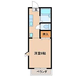 プチ・スタジオ湘南[1階]の間取り