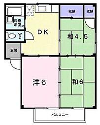 広島県福山市春日町5丁目の賃貸アパートの間取り
