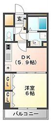シーナリ江坂[3階]の間取り