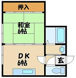 兵庫県明石市硯町1丁目の賃貸マンションの間取り