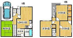[一戸建] 大阪府堺市東区大美野 の賃貸【/】の間取り