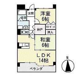 グランド・ステージ桜華 3階[305号室]の間取り