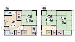 [テラスハウス] 兵庫県川西市南花屋敷1丁目 の賃貸【兵庫県 / 川西市】の間取り