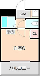 千里園Cube&Wall[103号室]の間取り