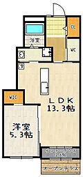 ネクサスII[1階]の間取り