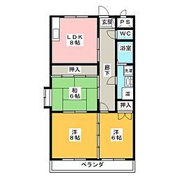 ファイン青山[3階]の間取り