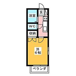 コーポ野村[2階]の間取り