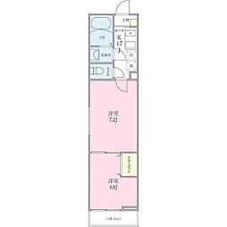 (仮称)船橋市海神町2丁目プロジェクト[203号室]の間取り