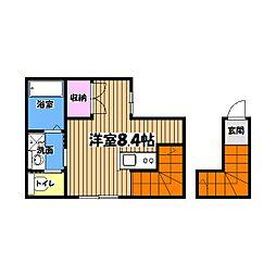 東京都八王子市子安町3丁目の賃貸アパートの間取り