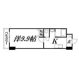 静岡県浜松市中区中央3丁目の賃貸マンションの間取り
