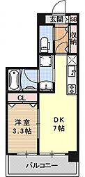 アクアプレイス京都洛南II[D404号室号室]の間取り