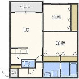 北海道札幌市中央区宮の森三条9丁目の賃貸マンションの間取り