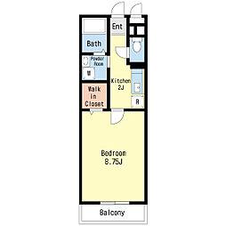 第3エーデルハイム[3階]の間取り