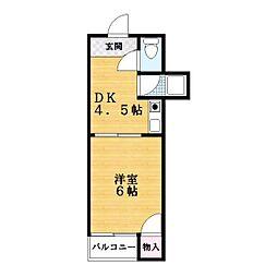 ドゥムール忍ヶ丘[2階]の間取り
