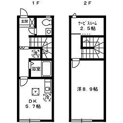 [テラスハウス] 神奈川県厚木市林4丁目 の賃貸【/】の間取り