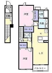 メゾン コリーヌ[2階]の間取り
