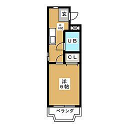 ヒルトップA[1階]の間取り