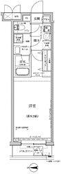 東急東横線 新丸子駅 徒歩7分の賃貸マンション 3階1Kの間取り