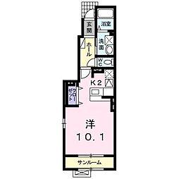 ガーネット ガーデン[1階]の間取り