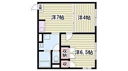 兵庫県神戸市西区水谷の賃貸アパートの間取り