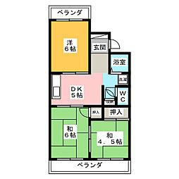 コーポ旭野 B棟[2階]の間取り