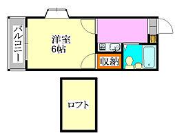 マ・メゾン津田沼[102号室]の間取り