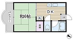 加藤ハイム[302号室]の間取り
