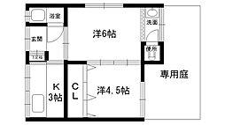 中野文化 3号棟[1Fhi1号室]の間取り