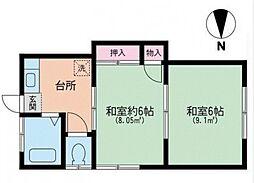 第一村上荘[2階]の間取り