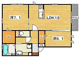 (仮称)D-room山之上4丁目[2階]の間取り