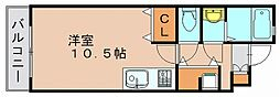 ボナール壱号館[2階]の間取り