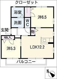 メープルタウンD[1階]の間取り