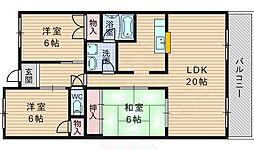 ドエル高松 3階3LDKの間取り