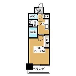 プレサンス名古屋グロウ[9階]の間取り