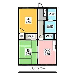 東海ホーム鴨江[4階]の間取り