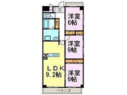 パークサイド雁宿2号館[5階]の間取り
